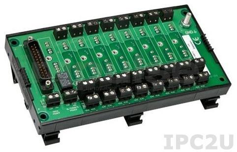 8BP08-1 Плата клеммников для установки 8 модулей нормализаторов сигналов серии 8B, монтаж на DIN-рейку, до 50В