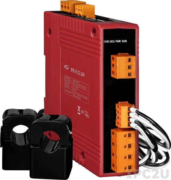 PM-3114-240-CPS 4-канальный, 1-фазный компактный измеритель напряжения и тока, CT:2pcs, кабель 24мм (0-200A), до 300 В, 50/60Гц, CANopen