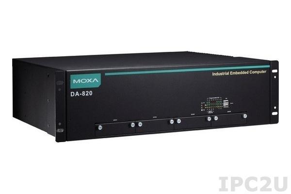 DA-820-C7-DP-LV-T Встраиваемый компьютер в 19'' стойку с Intel i7-3555LE Dual-Core 2.5 ГГц, 2 х VGA, 4 x Gigabit LAN, 6 x USB, питание 24 ~ 110 В пост. тока х 2, без CFast/RAM/OS, -40...+75С