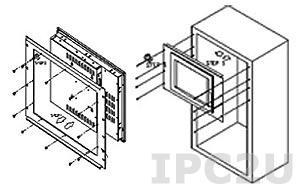 "RK-150MS Рамка для монтажа рабочих станций и дисплеев 15"" в 19"" стойку, сталь, 482х360мм"