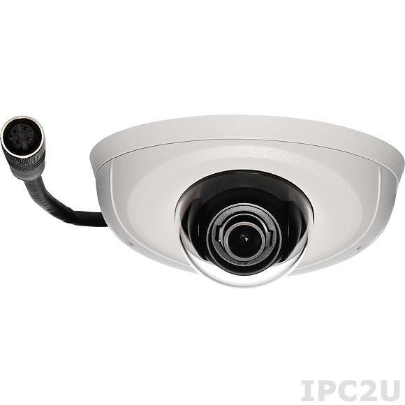 NCm-301-VM Камера 3MP@20fps, 1080@30fps, H.264/ M-JPEG, объектив 3.6мм F1.8, стабилизация изображения, 100дБ WDR, Micro SD слот, PoE 48V max, IK10 защита от вандализма, степень защиты IP67, разъем M12, сертификат EN-50155, рабочая температура -40...60 C