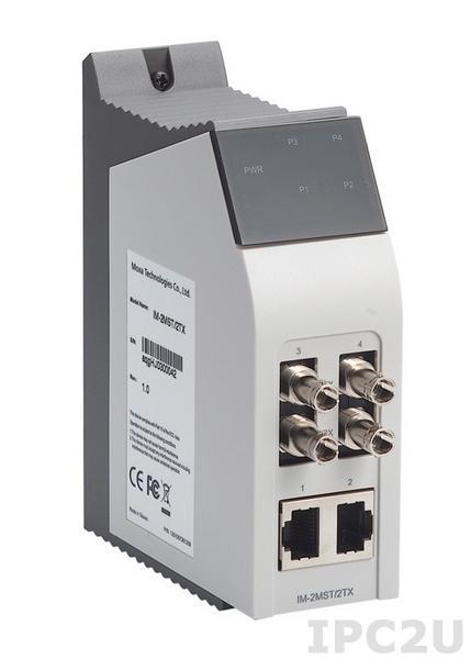 IM-2MST/2TX Интерфейсный модуль с 2 портами 100 BaseFx и 2 портами 100 BaseTx Ethernet, Multi Mode, разъемы ST, RJ45