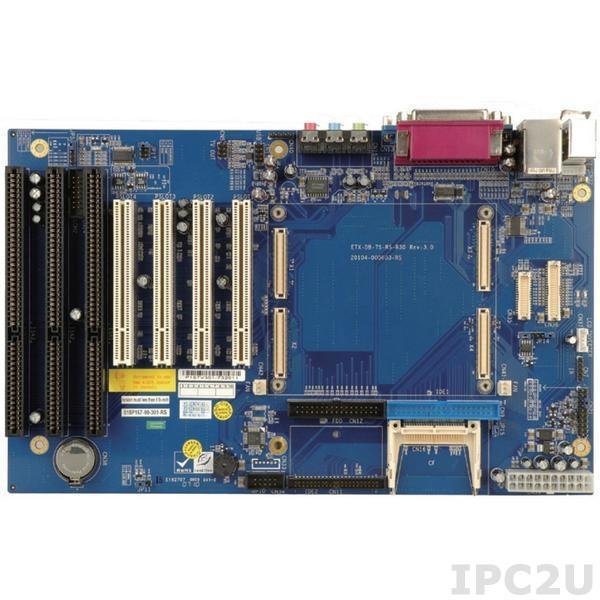 IEM-DB-7S-RS-R30 Базовая ATX плата для процессорных модулей ETX, слоты расширения 4xPCI, 3xISA, 1xLAN, CompactFlash Socket