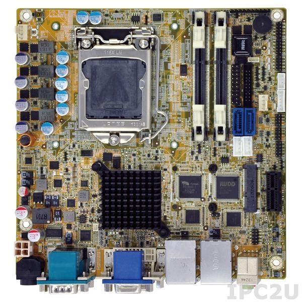 KINO-DH810 Процессорная плата Mini-ITX SBC, i7/i5/i3/Pentium/Celeron LGA1150, чипсет Intel H81, 204-pin DDR3 1066/1333/1600МГц, 1xVGA, 1xDVI-D, 1xiDP, 5xRS-232, 1xRS-422/485, 6xUSB 2.0, 2xUSB 3.0, 2xSATA 6Gb/s, 1xPCIe x1, 2xLAN, HD Audio