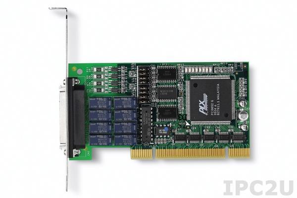 LPCI-7250 Плата ввода-вывода PCI, 8 каналов DI с изоляцией, 8 каналов релейного вывода, низкопрофильная