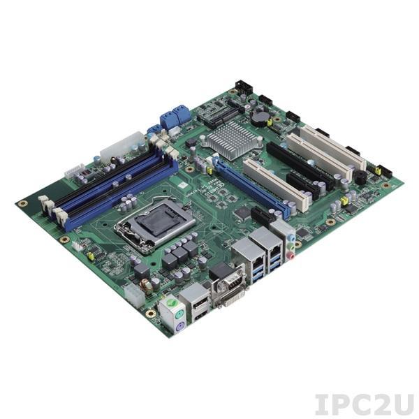 IMB210 Процессорная плата ATX, Socket LGA1150, C226 Чипсет, Intel Xeon -E3, Core i3/i5/i7, Pentium, Celeron, до 32Гб ECC DDR3, 10x USB, 5xSATA 3.0, 2xGb LAN, DP/ DVI-I / HDMI, CFast слот