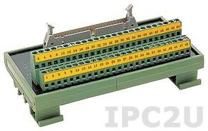 DIN-50P-01 Плата клеммников с 50-контактным разъемом, совместима с Opto-22, монтаж на DIN рейку, до 50В