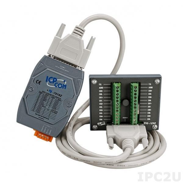 I-7018Z-G/S2 Модуль ввода, 10 каналов аналогового ввода или сигнала с термопары: J. K. T. E. R. S.B. N. C. L. M, L(DIN)43710, защита от перенапряжения