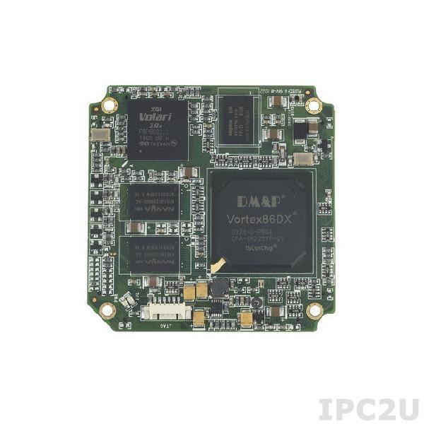 SOM304RD52VICE1 Процессорный модуль SOM304 Vortex86DX 800МГц с ОЗУ 256Мб DDR2, VGA/LCD, 5xCOM, 4xUSB, LAN, 2xGPIO, PWMx24, 1Гб NAND Flash