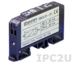 DSCL21-01 Изолятор с питанием от входного сигнала, вход 0...20 (4...20) мА, токовая петля, выход 0...20 (4...20) мА