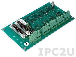 SCM7BP04-DIN Плата клеммников для установки 4 модулей нормализаторов сигналов серии SCM7B, монтаж на DIN рейку, до 50В