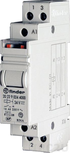 RM-20.22 Реле модульное для монтажа на 35 мм рейку(250Vac@16A)