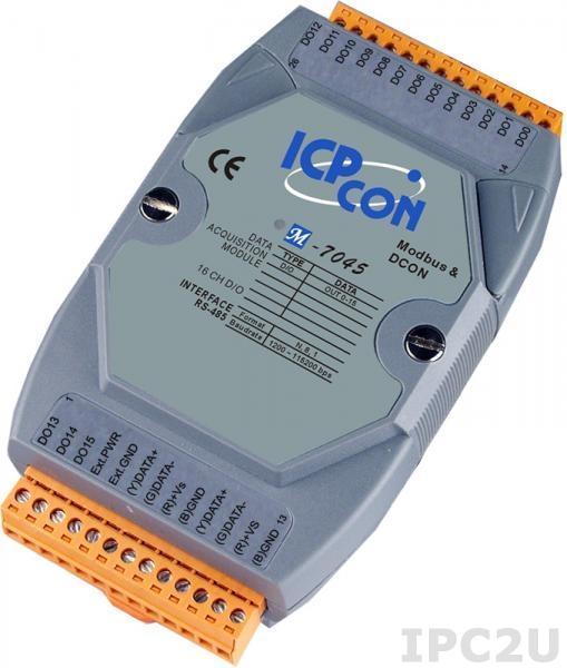M-7045 Модуль вывода, 16 каналов дискретного вывода, c изоляцией до 3750 В, Modbus RTU