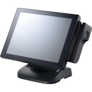 "NPT-5851-110 Безвентиляторный POS-терминал, 15"" TFT LCD, резистивный сенсорный экран (true flat), Intel B940 2.0ГГц, 2Гб DDR3, VGA, GB LAN, 4xCOM, 4xUSB, 2.5"" 320Гб SATA HDD, LPT, 1xRJ-11, Audio"