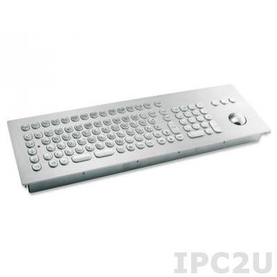 TKV-105-TB38V-MODUL-USB Встраиваемая промышленная вандалоустойчивая IP65 клавиатура, 105 клавиш, трекбол 38мм, USB
