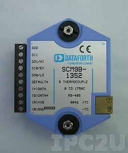 SCM9B-1712 Модуль ввода-вывода, вход 0...+30 В, выход до 30 В, 100 мА максимум, RS-485, протокол ASCII