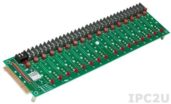 SCMD-PB16SM Плата клеммников для установки 16 модулей серии SCMD, компактное исполнение