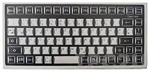 TKF-085c-MGEH-PS/2 Промышленная настольная мембранная IP65 клавиатура в алюминиевом корпусе, 85 клавиш, PS/2