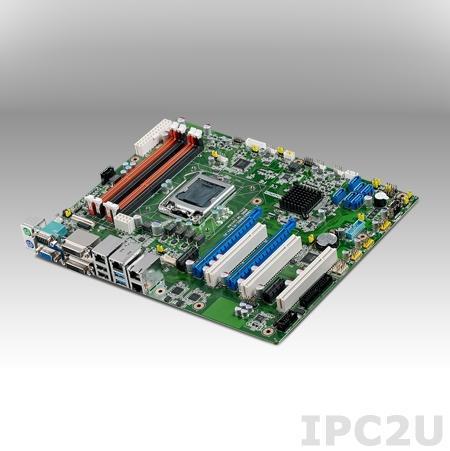 ASMB-784G2-00A1E Серверная плата ATX, поддержка Intel Xeon E3-1200 v3, DDR3, VGA/DVI-D, 2xGB LAN, 8xUSB 2.0, 2xUSB 3.0, 6xSATA III, 2xPCIe x16, 2xPCIe x1, 3xPCI