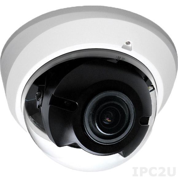 NCi-311 Камера 3MP@20fps, 1080@30fps, H.264/ M-JPEG, линза с переменным фокусным расстоянием 3-10мм F1.3, DWDR, Micro SD слот, PoE, рабочая температура 0...60 C