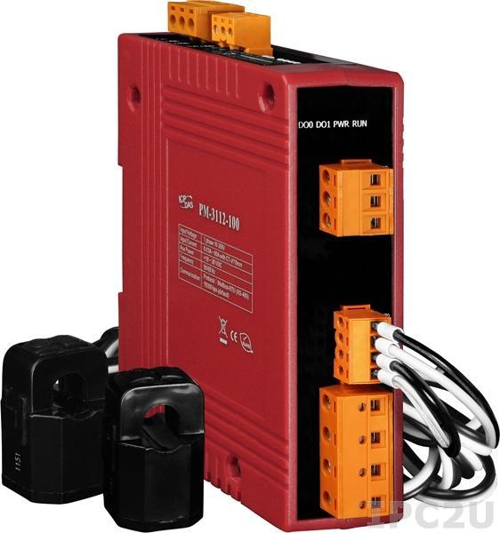 PM-3112-100-CPS 2-канальный, 1-фазный компактный измеритель напряжения и тока, CT:2pcs, кабель 10мм (0-60A), до 300 В, 50/60Гц, CANopen