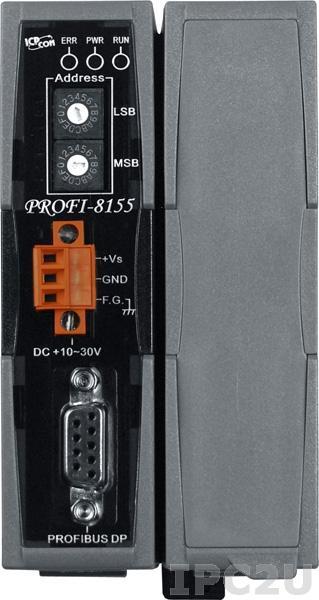 PROFI-8155 Корзина расширения для модулей I-8K, I-87K, 1 слот расширения, протокол PROFIBUS DP