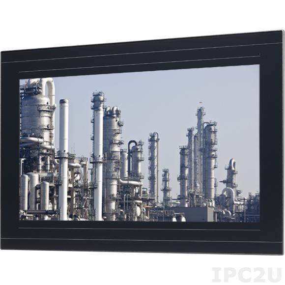 """IPPD-2100P-B 21.5"""" 16:9 WXGA LED промышленный монитор, 300 нит, емкостный сенсорный экран, VGA, VGA, DVI-D, DisplayPort, питание 12-24В DC, IP66"""