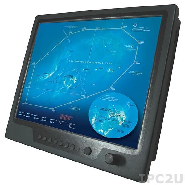 """NPD1555-EGAW-G01 15"""" TFT LCD LED монитор для морского применения, 1000 нит, 1024x768, VGA, DVI, 3xCompositex, питание 9-36В DC"""