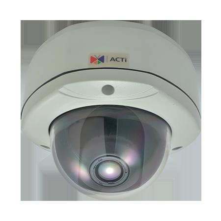 KCM-7311 4 МП уличная вандалозащищенная купольная IP-камера, мотор. трансфокатор f3.3-12мм/F1.4-2.9, 3.6х оптич. зум, P- диафрагма, H.264, 1080p/15 к/сек, день/ночь, адапт. ИК подсветка, WDR, SLLS, 2D+3D DNR, Аудио, Micro SDHC/SD