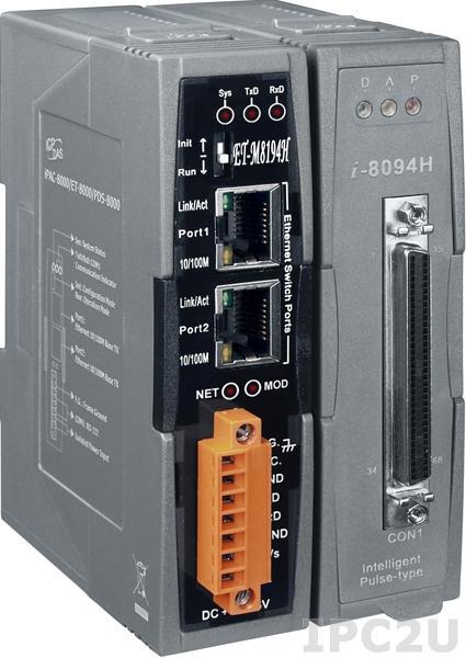 ET-M8194H Удаленный модуль ввода-вывода для управления шаговыми/импульсными сервоприводами, 4 оси, Modbus TCP
