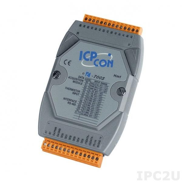 I-7005 Модуль ввода - вывода, 8 каналов ввода сигнала с термистора / 6 каналов дискретного вывода