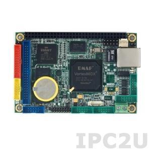 VDX-6314RD 2,5'' одноплатный компьютер Vortex86DX 800МГц с 256Мб RAM, LAN, 4xCOM, 2xUSB, VGA, LVDS, GPIO, рабочая температура -20..70 С