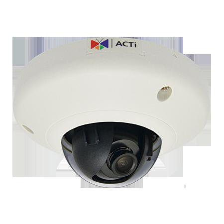E91 1 МП компактная купольная IP-камера, f2.93мм/F2.0, H.264, 720p/30 кадр/сек, WDR, DNR, Micro SDHC/SDXC, PoE, IK08, -10C...+50C