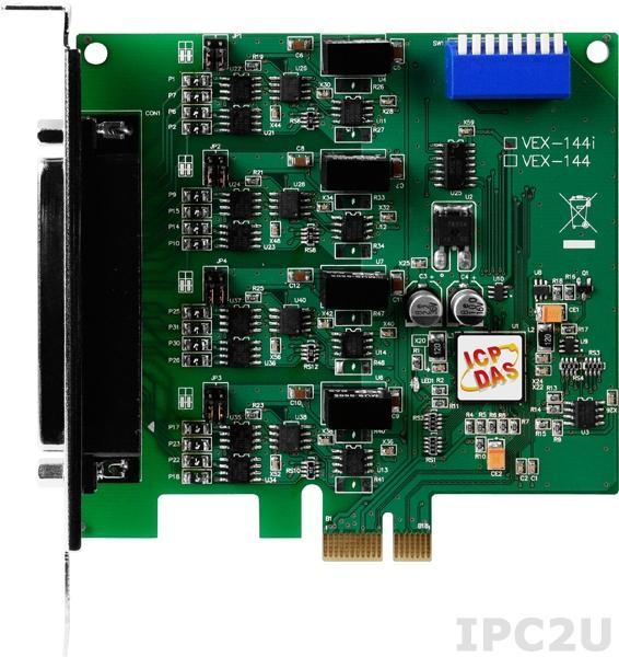 VEX-144i PCI Express адаптер 4xRS-422/485 115.2кбод с изоляцией