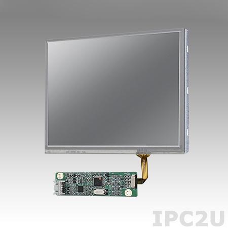 "IDK-1105R-50VGA1E 5.7"" LCD 640 x 480 Open Frame дисплей LED, 500нит, резистивный сенсорный экран (USB), LVDS"