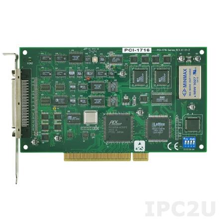 PCI-1716-AE Плата ввода-вывода PCI, 16SE/8D AI, 2AO, 16DI, 16DO