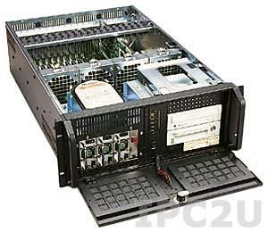 """GH-432SR 19"""" корпус 4U, 19 слотов, отсеки 3x5.25""""/1x3.5"""" FDD/2x3.5"""" HDD, без источника питания"""