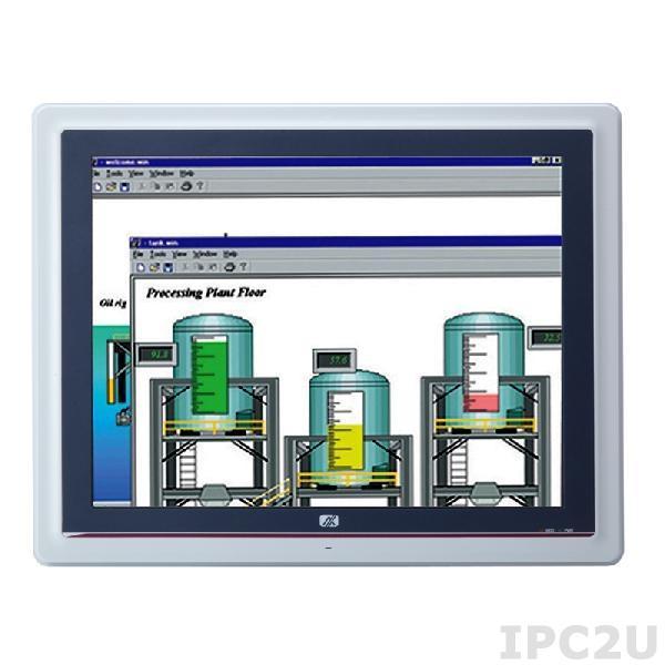 "GOT-5152T-834 Безвентиляторный панельный компьютер, 15"" XGA дисплей, резистивный экран, Intel Celeron J1900 2 Ггц, 1x204-pin DDR3L-1333, отсек 2.5"" SATA HDD, 1xCF, 3xCOM, 4xUSB, 2xLAN, Audio, 1xVGA, 2xPCle Mini, питание 9-36В DC"