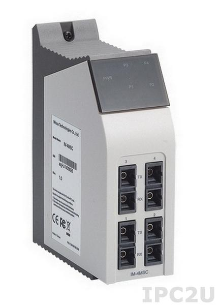 IM-4MSC Интерфейсный модуль с 4 портами 100 BaseFx Ethernet, Multi Mode, разъемы SC