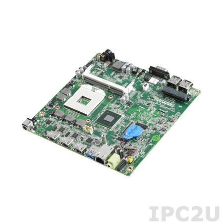 AIMB-201VG-DSA1E Процессорная плата Mini-ITX, Intel Core i7/i5/i3/Celeron, uFC-PGA988, до 16Гб DDR3 SO-DIMM, 3xHDMI, 1xGbe LAN, 1xSATA, 1xCOM, 3xUSB, слоты расширения 1xMini-PCIe
