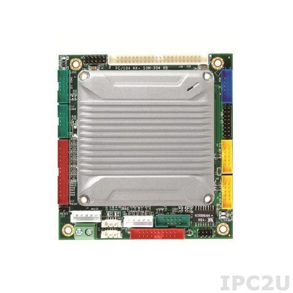 VMXP-6453-4DS1 PC/104 процессорная плата Vortex86MX+ 800МГц с 1Гб RAM, VGA/LCD/LVDS, 3xCOM, 4xUSB, LAN, GPIO, CompactFlash, Audio, PWMx16, 2Гб NAND Flash