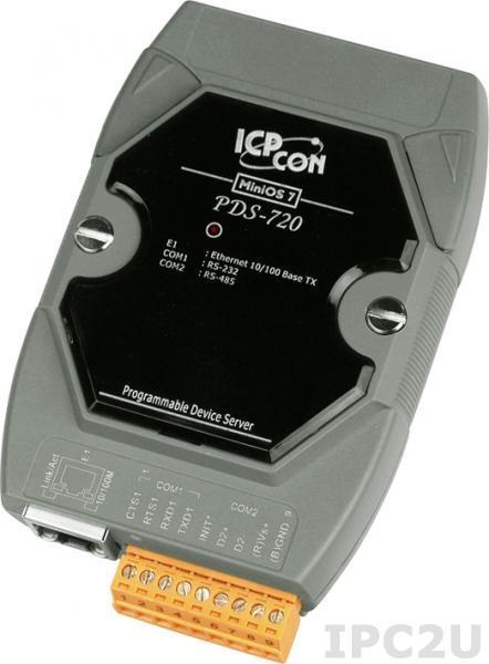 PDS-720 Программируемый Ethernet сервер последовательных интерфейсов, 1xRS-232, 1xRS-485
