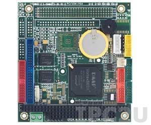 VSX-6150-V2-X PC/104 процессорная плата Vortex86SX 300МГц с 128Мб DDR2 RAM, 2xCOM, 2xUSB, GPIO, -40...+85