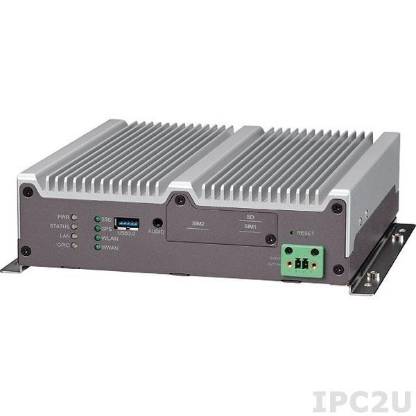 VTC-1010-BK Компьютер для транспорта с Intel Atom E3827 1.75ГГц, 2Гб DDR3L SO-DIMM, VGA/DP, Gb LAN, 2xRS-232, RS-422/485, 1xCAN и 3xGPIO, 2xUSB 2.0, USB 3.0, 4xMini-PCIe, GPS, вход 6...36В DC
