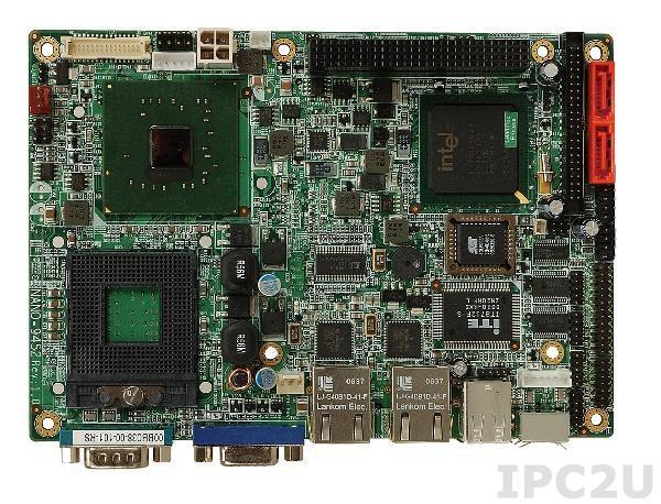 NANO-9452 Процессорная плата формата EPIC Intel Core Duo/Core Solo Socket-M c VGA, 2xGb LAN, 2xSATAII, CF Socket, Audio, слот расширения PCI-104