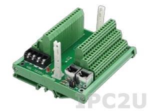 HSL-TB32-U-DIN Терминальный модуль на 32 канала для установки модулей ввода-вывода серии HSL