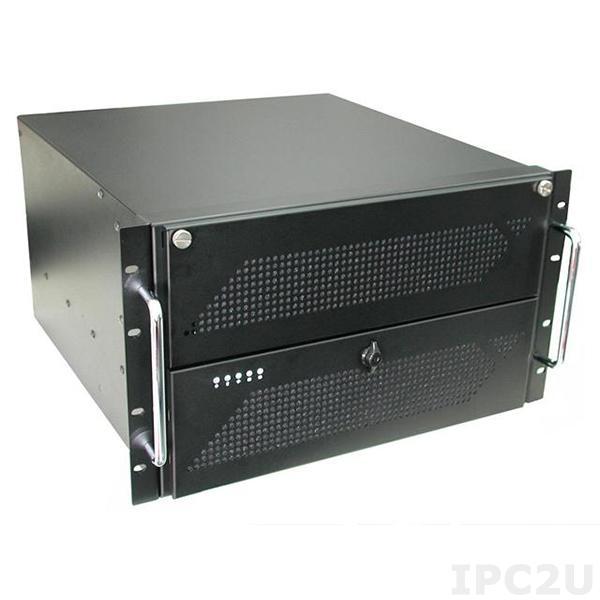 """GHI-611ATXR 19"""" корпус 6U для процессорной платы ATX, отсеки 4x5.25""""/1x3.5""""FDD/1x3.5""""HDD, для источника питания PS/2"""