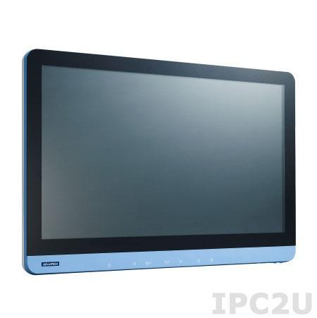 "POC-W242-B11D-ACE Безвентиляторная медицинская рабочая станция 24"" IPS LCD LED, резистивный сенсорный экран, Intel Core i5-4300U 1.9ГГц, 4Гб DDR3, 1x2.5"" SATA, VGA, HDMI, 3xCOM, 6xUSB, 2xLAN, 1xPCIe, 2xMini PCIe, Аудио, адаптер питания 90-260В ACDC 100Вт"
