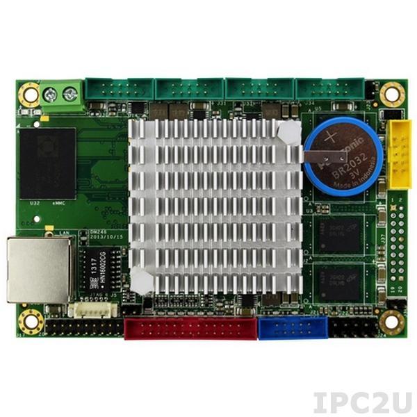 VDX2-6518-1G-E 2.5'' одноплатный компьютер Vortex86DX2 800МГц с 1ГБ DDR2 RAM, VGA, LCD, LVDS, LAN, 4xCOM, 2xUSB, слот для eMMC карты, PWM, рабочая температура -10..60 C