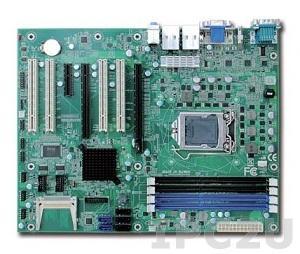 RUBY-D714VG2AR Процессорная плата ATX Intel Q77 Core i3/ i5/ i7 LGA1155 с HDMI/DVI-D/VGA, 2xGb LAN, 4xUSB3.0, 6xUSB2.0, Audio, 6xCOM, 2xSATA-600, 3xSATA-300, RAID 0/1/5/10, 1x PCIe x 16, 1x PCIe x4, 1x PCIe x4, 4x PCI